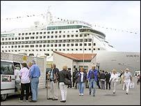 Aurora passengers in Gibraltar