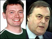 Big Brother winner Cameron Stout and Deputy Prime Minister John Prescott