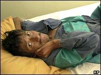 Enfermo de VIH/SIDA en Honduras