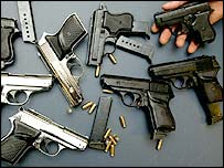A collection of guns