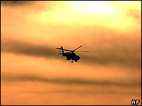 US helicopter over above Baghdad this week