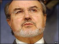 EU economic and monetary affairs commissioner Pedro Solbes