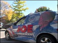 The 'JoeMobile' campaign vehicle