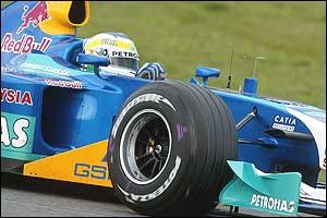 Giancarlo Fisichella tries out the Sauber