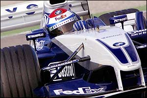 Williams test driver Marc Gene gets down to work at Valencia