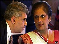 Ranil Wickramasinghe and Chandrika Kumaratunga