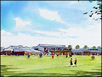 Artists impression of the new school