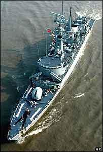 Pakistani navy destroyer Babur