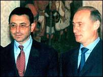 Simon Kukes with Vladimir Putin