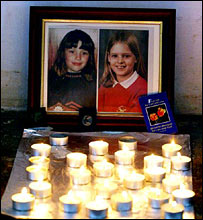 Candles lit for Jessica and Holly in Soham