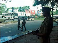 Security forces on patrol in Colombo