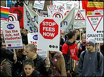 NUS demo London October, 2003
