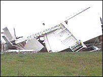 The blown-over windmill at Chillenden