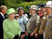 Picture of the Queen in Rhondda