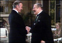 As Poirot with David Niven
