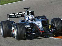 David Coulthard tests the new McLaren in Valencia