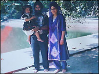Surjit Kaur Athwal with her husband and daughter