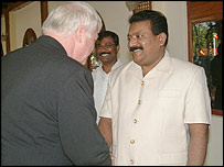Chris Patten and Velupillai Prabhakaran