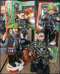 Osama Bin Laden and Saddam Hussein dolls