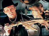 Dr von Hagens with one of his exhibits