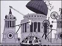 Heath Robinson's works are on show at Dulwich Picture Gallery