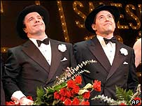 The Producers' Broadway stars Nathan Lane (left) and Matthew Broderick