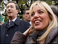 Gianfranco Fini (left) and Alessandra Mussolini