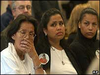 Victims' relatives in court