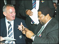Jan Peeters and Ngconde Balfour