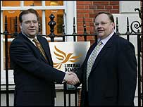 Mr Lord and Liberal Democrat chief executive Chris Rennard