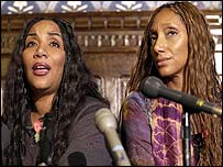 Joni and Debbie from Sister Sledge