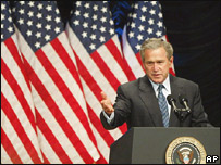 El presidente de Estados Unidos, George W. Bush