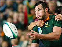 Danie Rossouw in action against Georgia