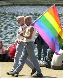 Gay men at Mardi Gras