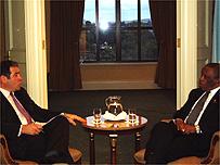 President Mogae with Roger Hearing