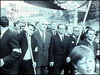 1960's civil rights march in Northern Ireland