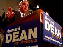 Democratic presidential candidate former Vermont Governor Howard Dean