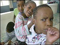 Aids orphans in South Africa