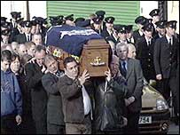 Fireman's funeral cortege