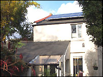Solar Panels on Mr McCarthy's cottage roof