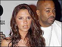 Victoria Beckham with producer Damon Dash