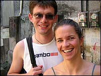 Newlyweds Brian and Liz Kilcoyne, who toured the favela during their honeymoon