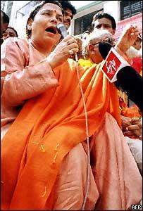BJP leader Uma Bharati on campaign trail