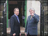 Rhodri Morgan welcomes Tony Blair