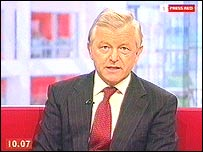 Philip Hayton in BBC Breakfast studio