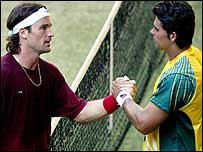 Carlos Moya and Mark Philippoussis