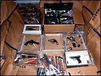 Guns seized in the raids