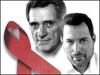 Rock Hudson y Freddie Mercury, artistas que murieron a causa del SIDA.