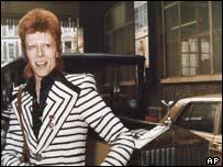 Rock god David Bowie, AP