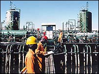 Shell flow station in Nigeria